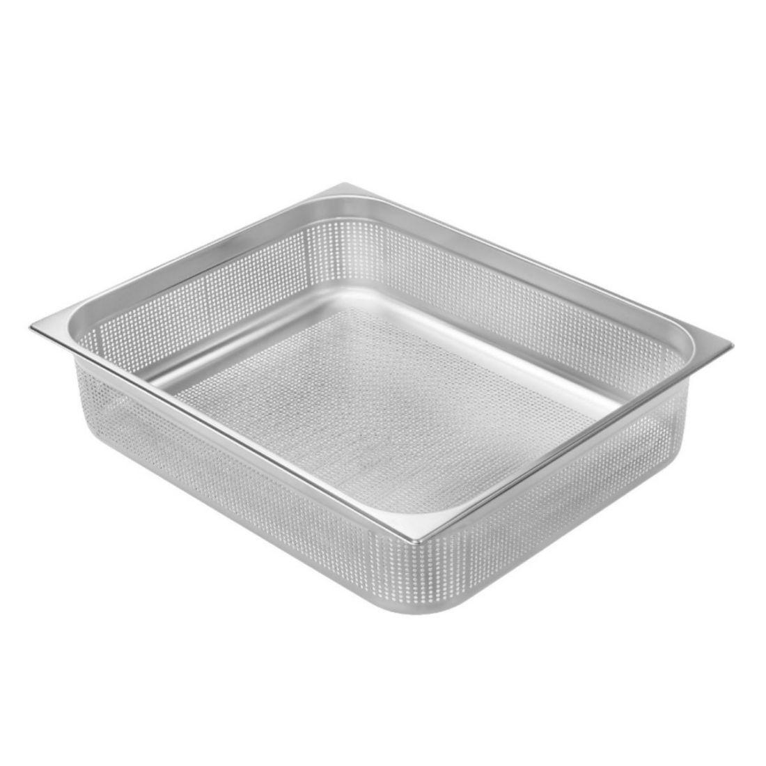 Gastronádoba Profi děrovaná s úchyty GN 2/1 200 mm