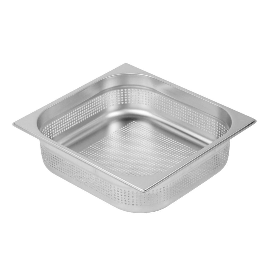 Gastronádoba Profi děrovaná s úchyty GN 2/3 200 mm