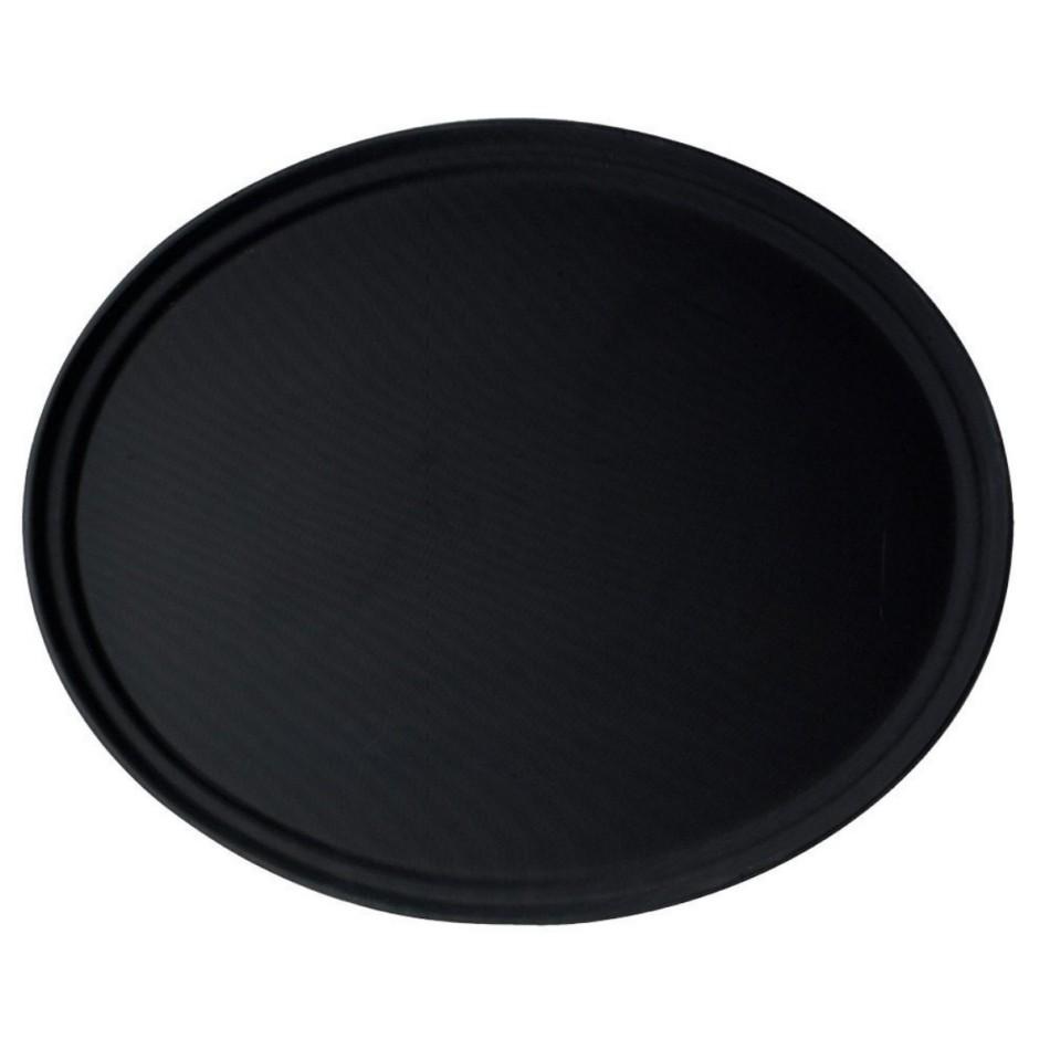 Podnos protiskluzový ovál 56 x 68,5 cm černý