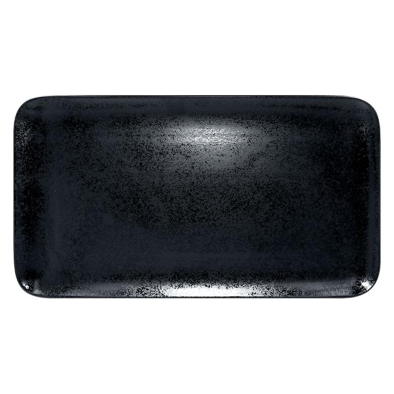Talíř obdélný 38 x 21 cm - černá