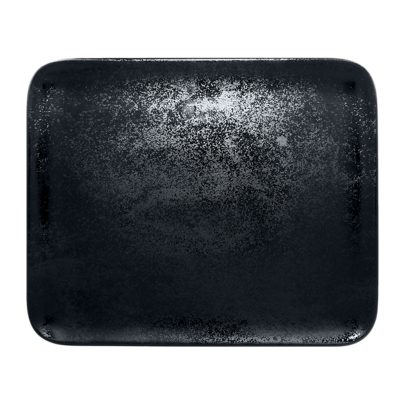 Talíř obdélný 33 x 27 cm - černá