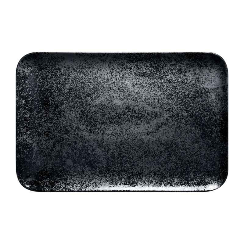 Talíř obdélný 33 x 22 cm - černá