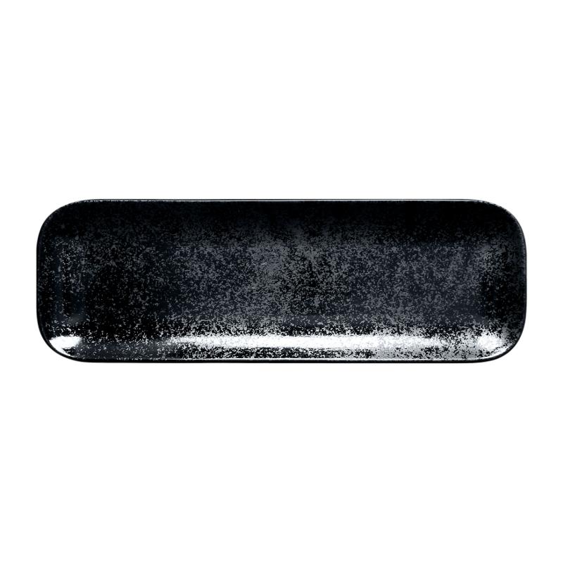 Talíř obdélný 33 x 11 cm - černá