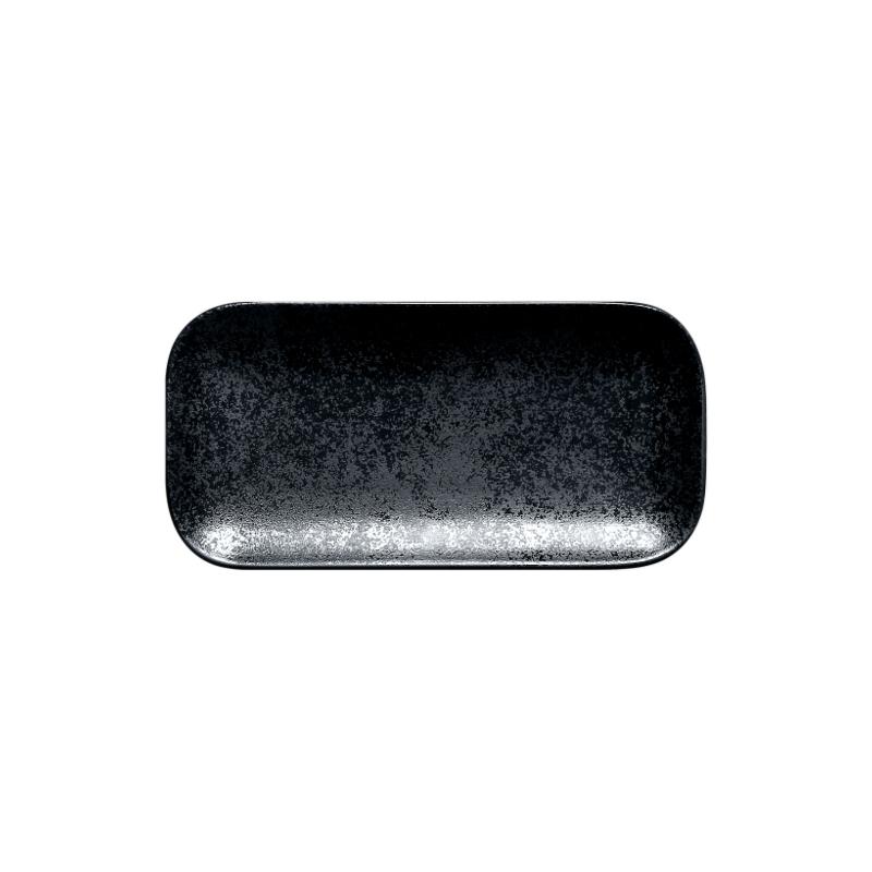 Talíř obdélný 22 x 11 cm - černá