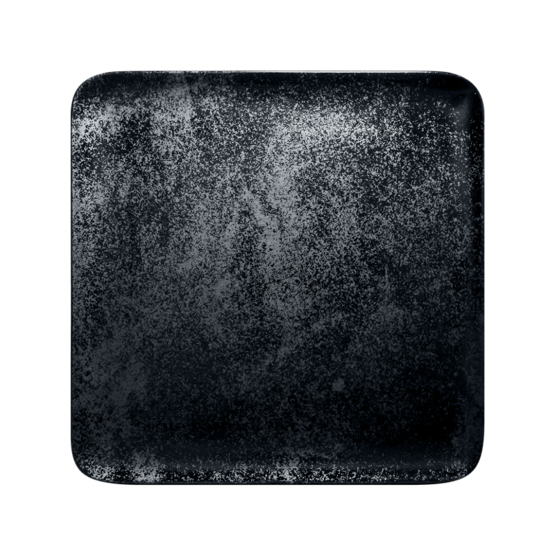 Talíř čtvercový 27 x 27 cm - černá