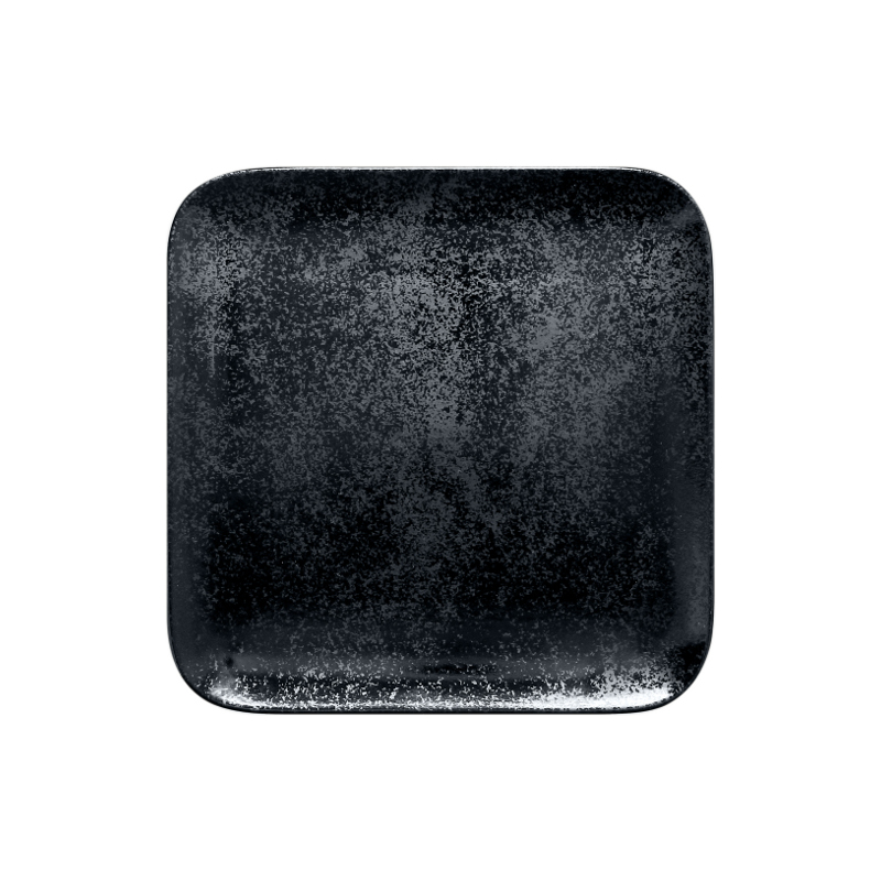 Talíř čtvercový 22 x 22 cm - černá