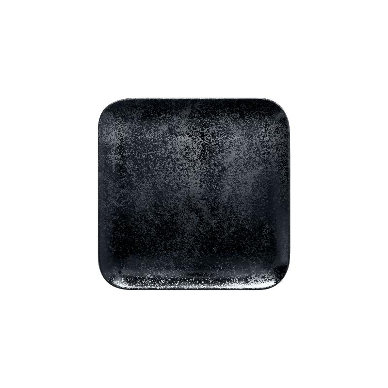 Talíř čtvercový 15 x 15 cm - černá