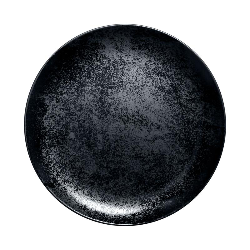 Karbon talíř mělký 28 cm - černá