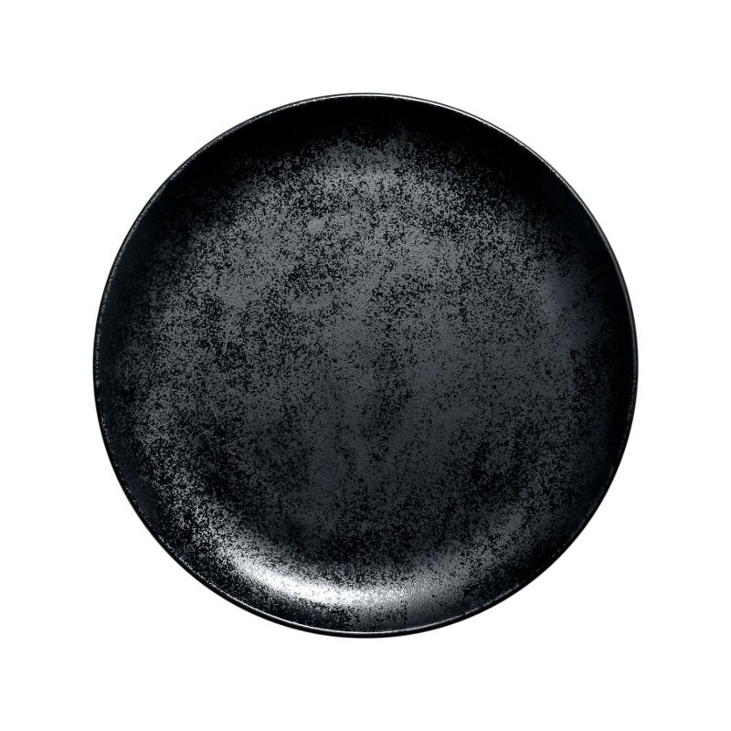 Karbon talíř mělký 27 cm - černá