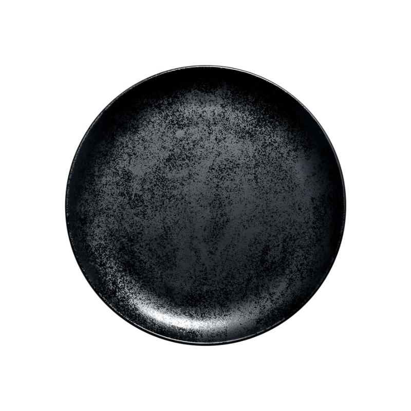 Karbon talíř mělký 24 cm - černá