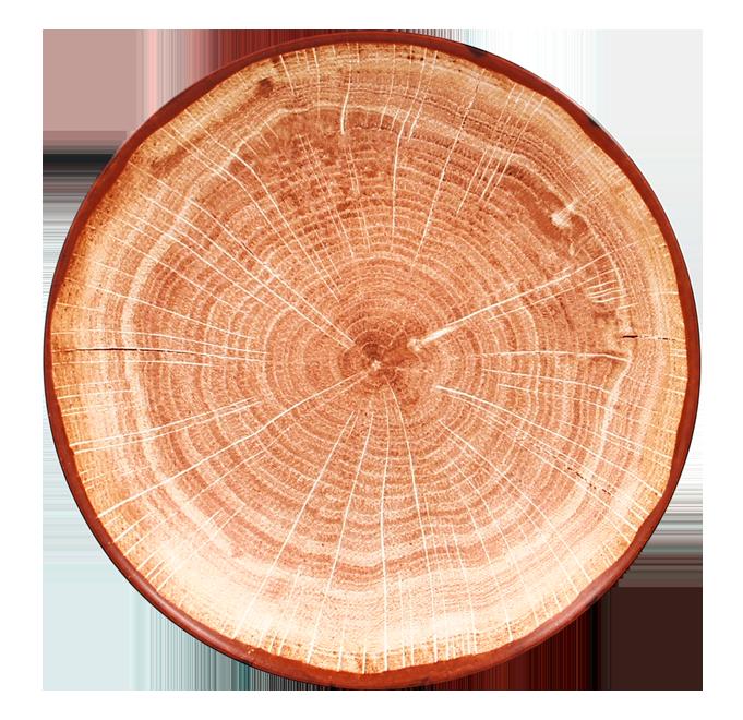 Talíř hluboký 26 cm - světle hnědá