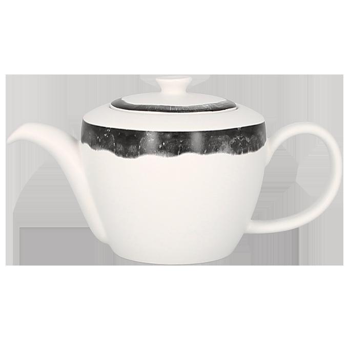 Konvice na čaj s víčkem 40 cl - šedá