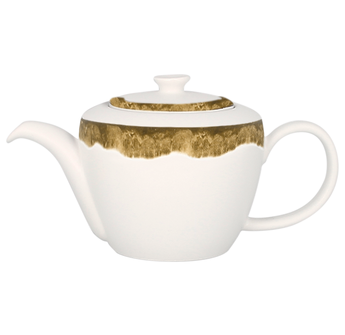 Konvice na čaj s víčkem 40 cl - mechově zelená