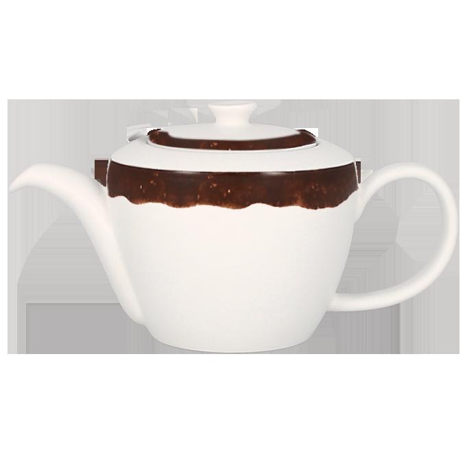 Konvice na čaj s víčkem 40 cl - tmavě hnědá