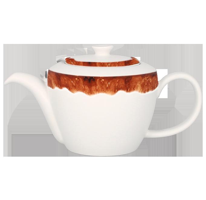 Konvice na čaj s víčkem 40 cl - světle hnědá