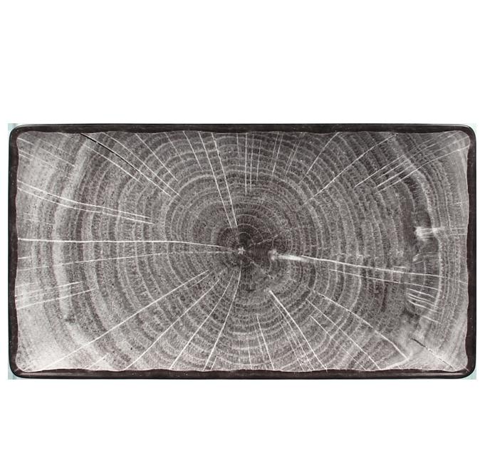Talíř obdélný 33,5 x 18,1 cm - šedá