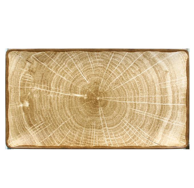 Talíř obdélný 33,5 x 18,1 cm - mechově zelená