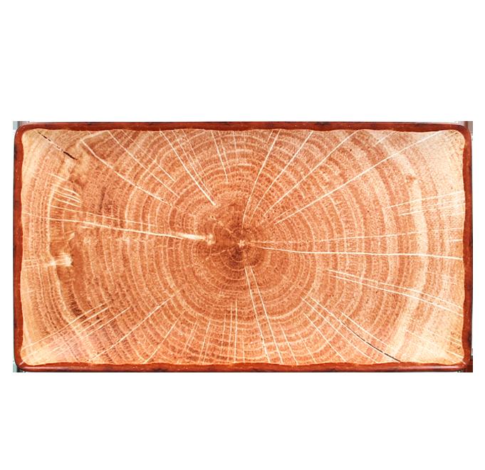 Talíř obdélný 33,5 x 18,1 cm - světle hnědá