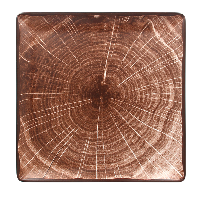 Talíř čtvercový 30 x 30 cm - tmavě hnědá