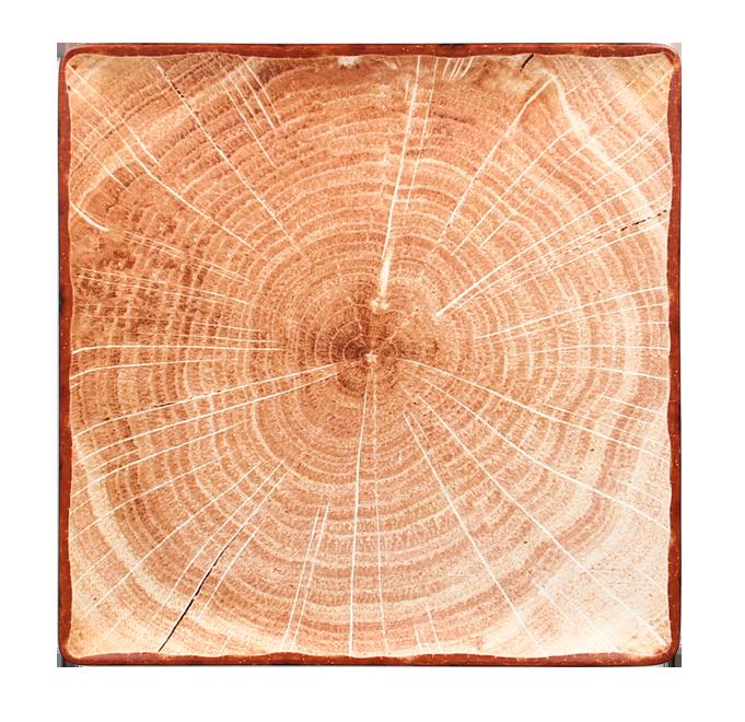 Talíř čtvercový 30 x 30 cm - světle hnědá