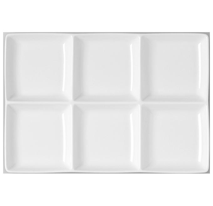 Minimax Obdélný talíř - 6 oddíly