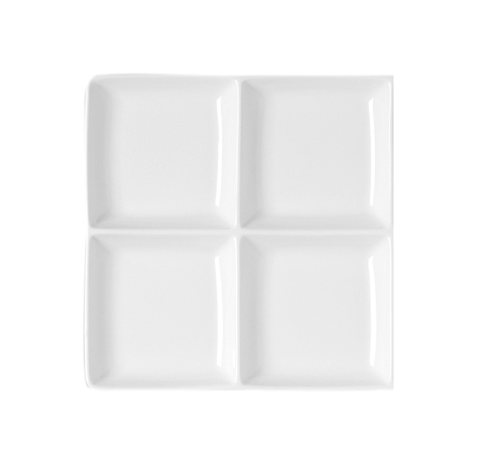 Čtvercový talíř - 4 oddíly Minimax