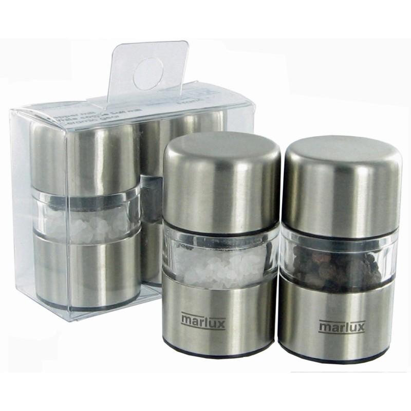 Marlux Mlýnek na pepř a sůl nerezový set 2 ks.