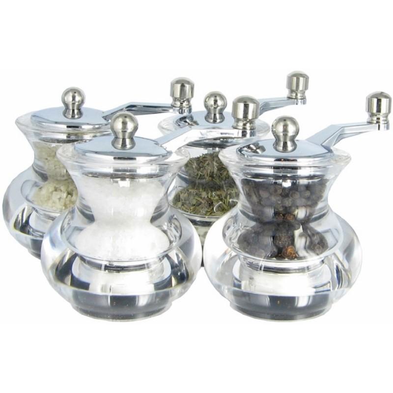 Sestava mlýnků na sůl pepř a koření BOOGIE
