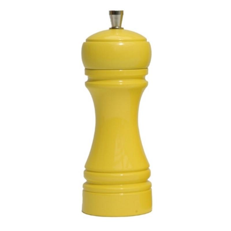 Java Mlýnek na pepř, lesklá žlutá, 14cm