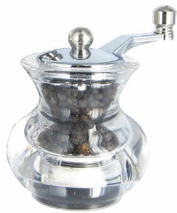 Boogie mlýnek na pepř, transparentní, 7 cm
