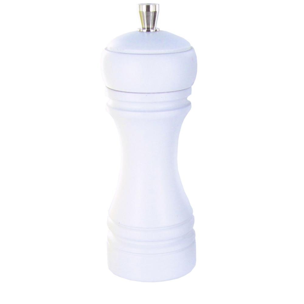 JAVA mlýnek na sůl, matný bílý, 14 cm