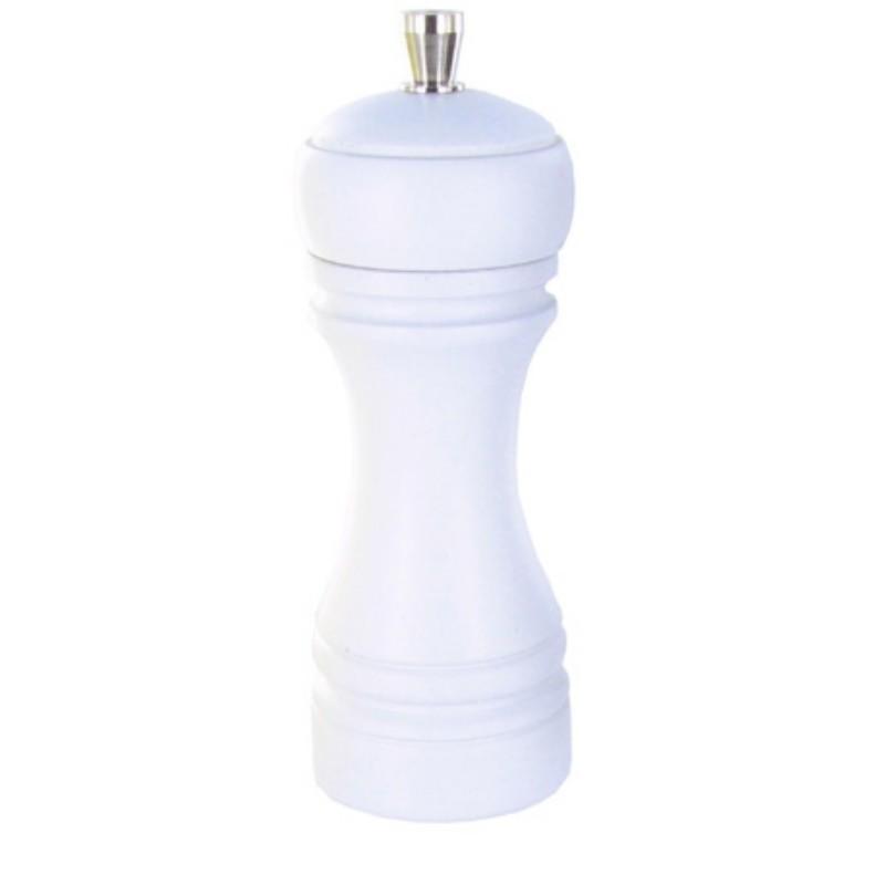 Java mlýnek na sůl, bílý, 14 cm