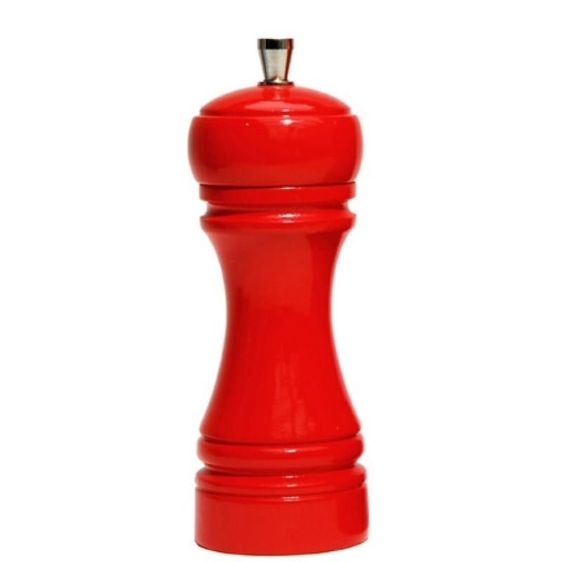 Java mlýnek na sůl, červený, 14 cm