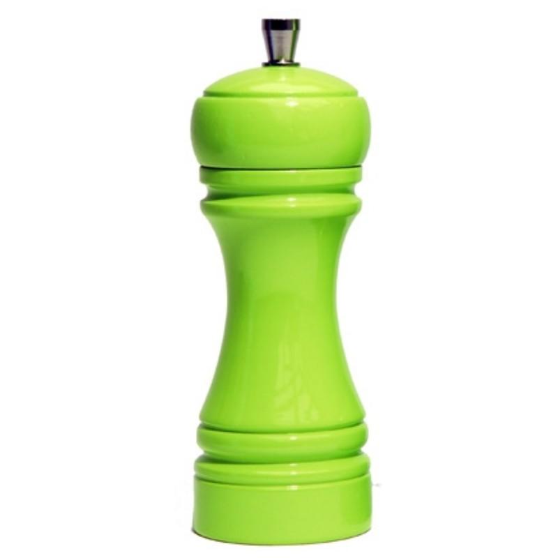 Java mlýnek na sůl, zelený, 14 cm