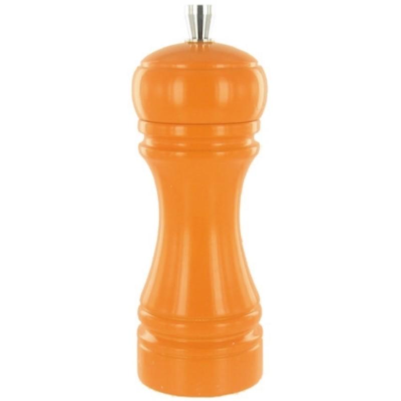 Java mlýnek na sůl, oranžový, 14 cm