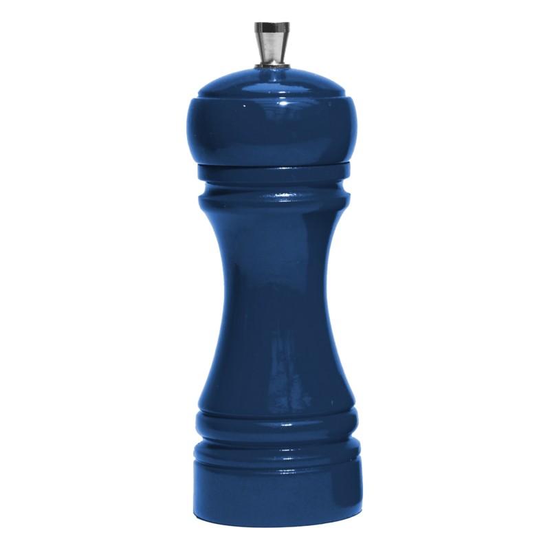 Java mlýnek na sůl,  tmavě modrý, 14 cm