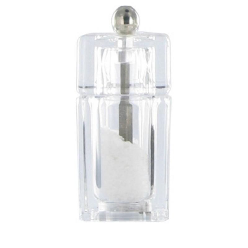 Chacha mlýnek na sůl, transparetní, 9,5 cm