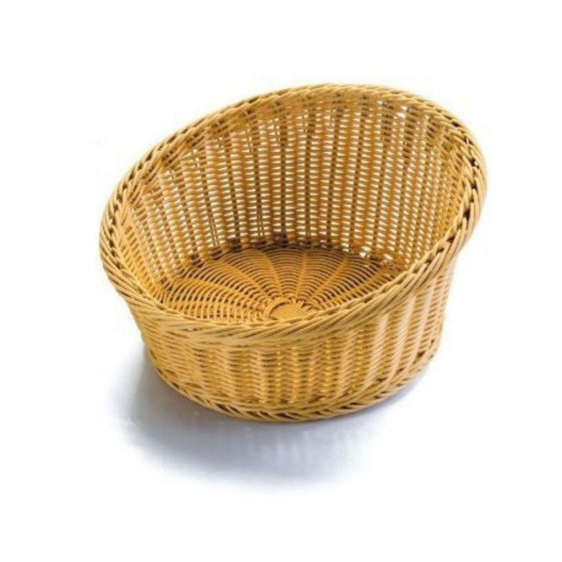 Košík na pečivo polypropylen - kulatý otevřený