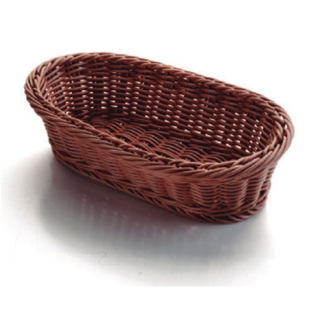 Košík na pečivo polypropylen - oválný, tmavý