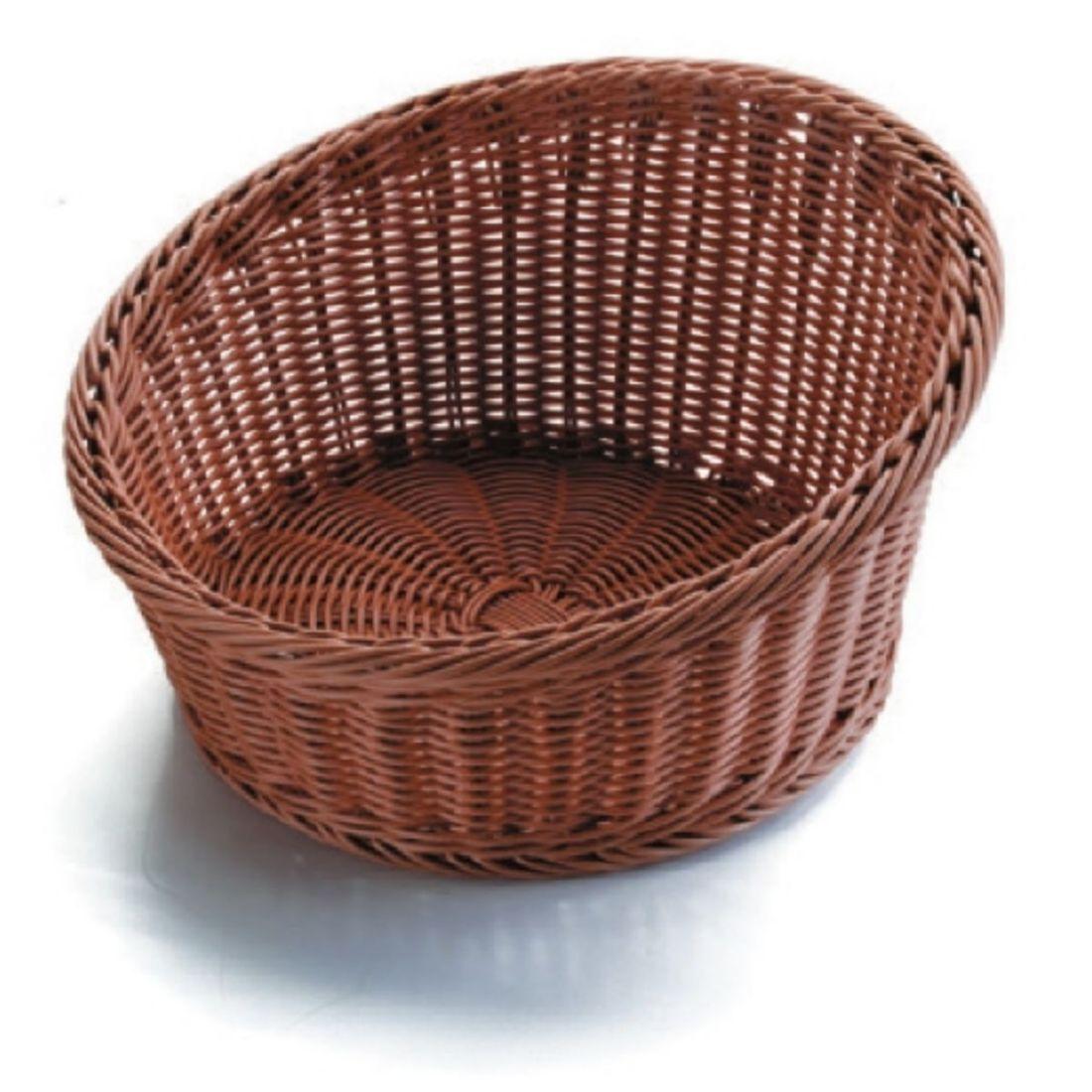 Košík na pečivo polypropylen - otevřený, tmavý