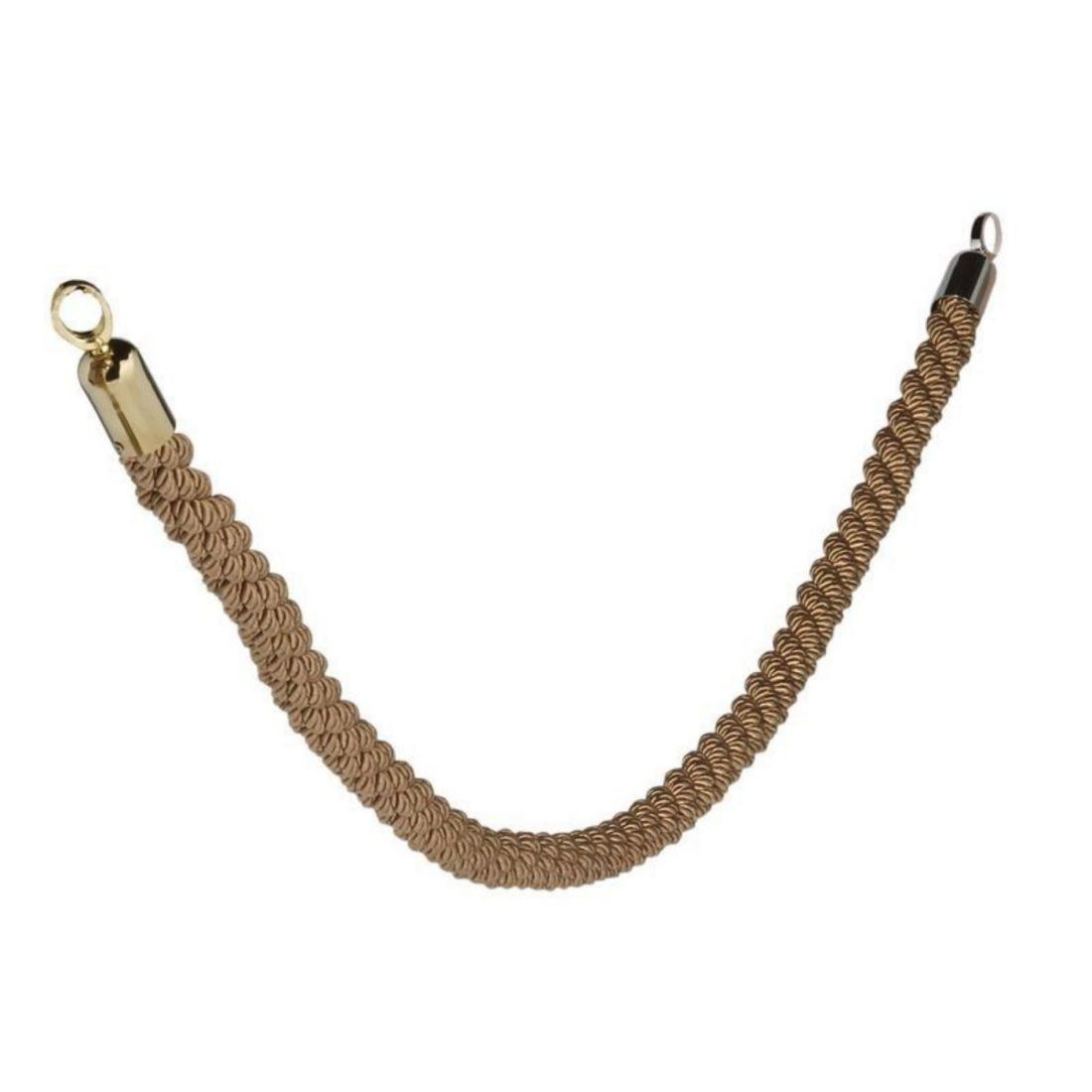 Provaz pletený 150 cm zlatý