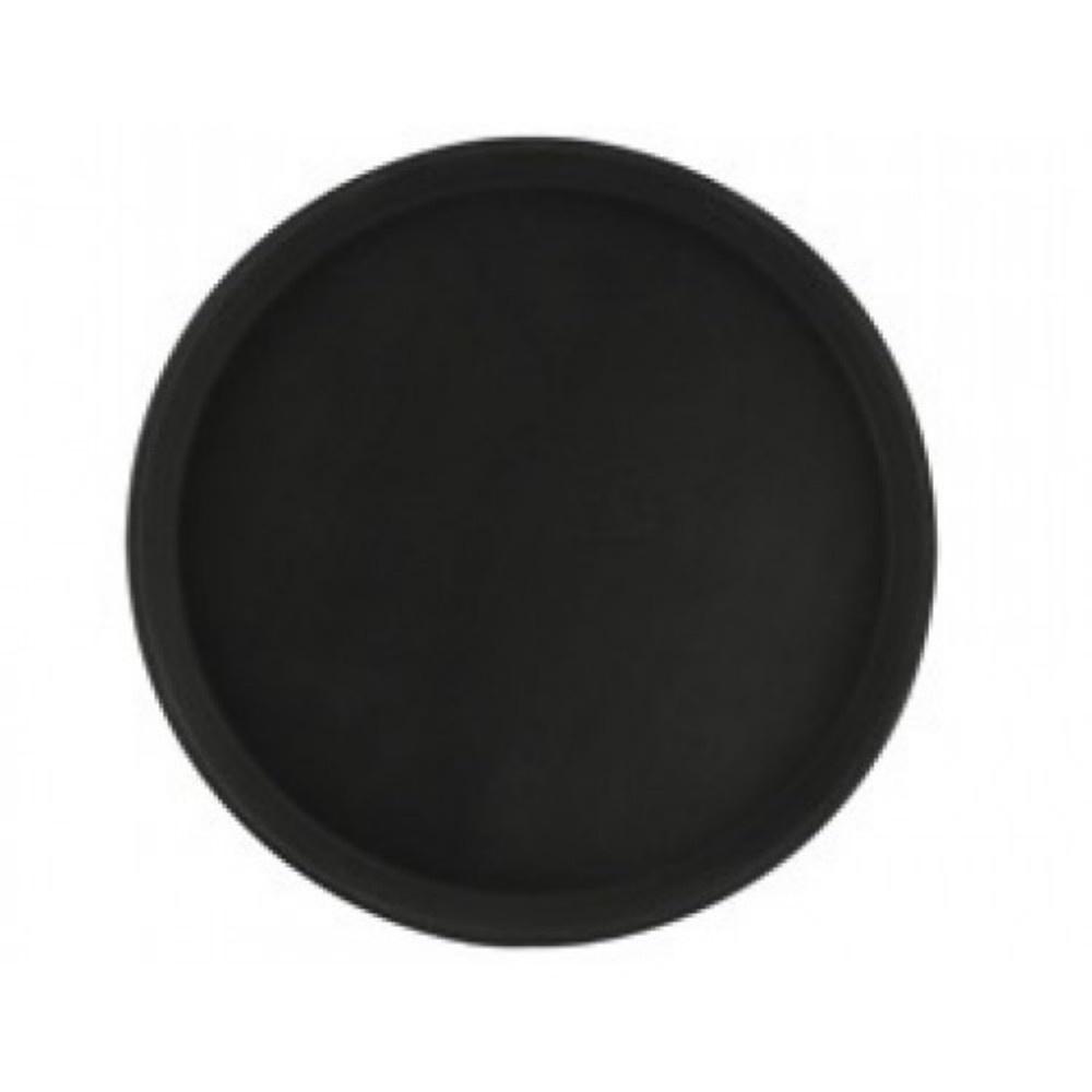 Podnos protiskluzový kulatý, 35,5 cm, černý