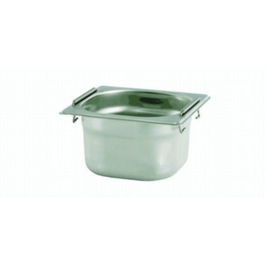 Gastronádoba se sklápěcími úchyty GN 1/6 065 mm