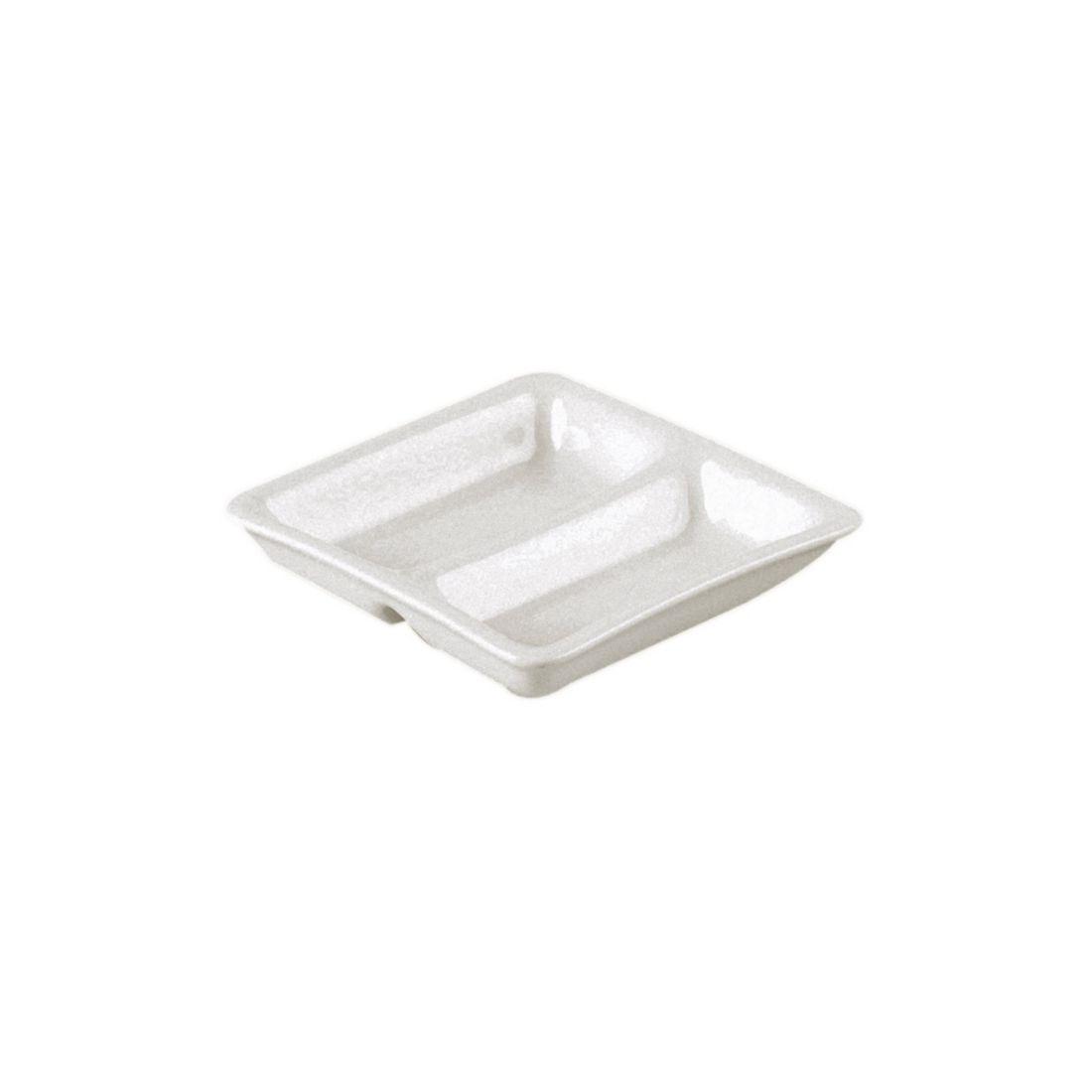 Nano talíř dvoudílný - čtvercový 9 cm