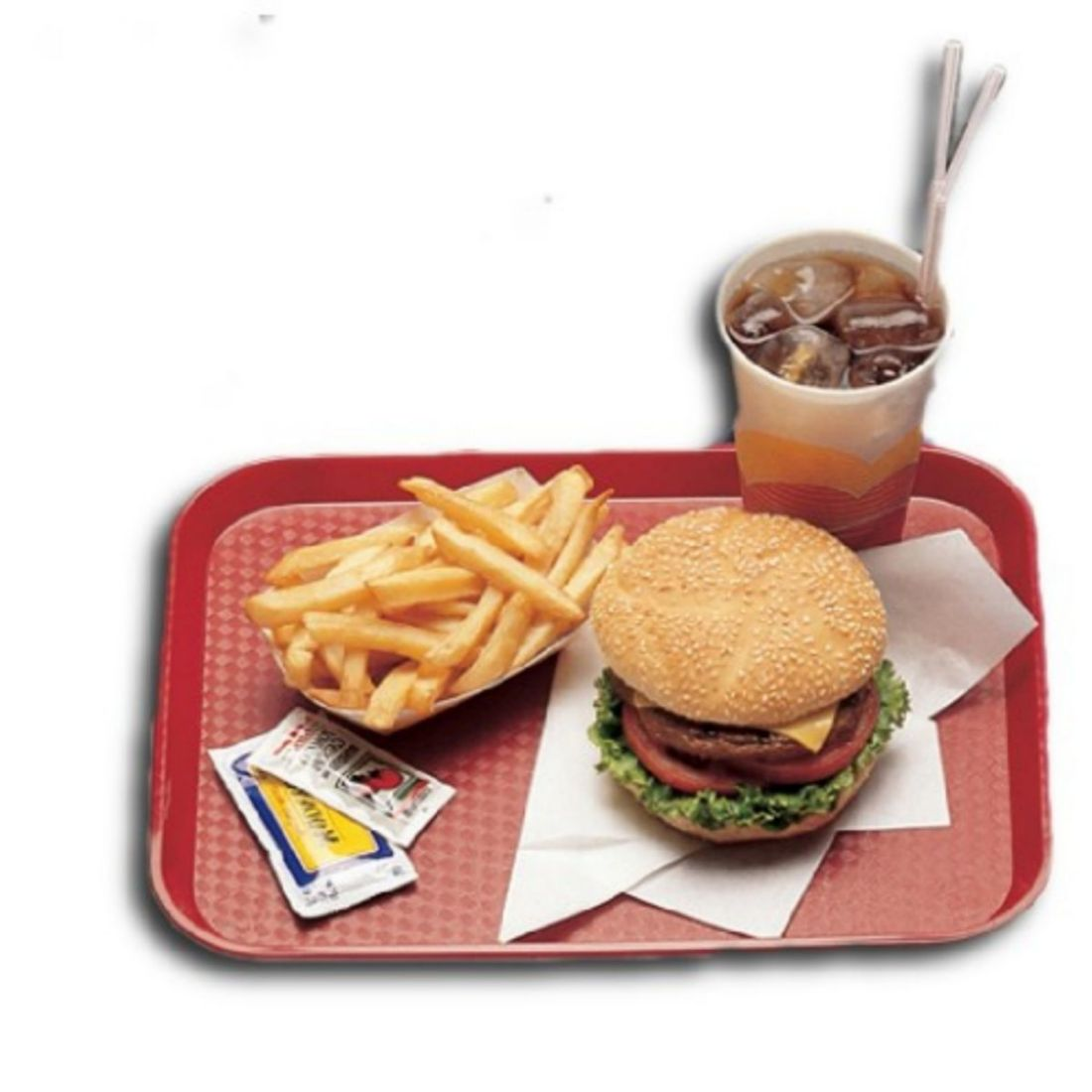 Podnos Fast Food - červený 300 x 410 mm