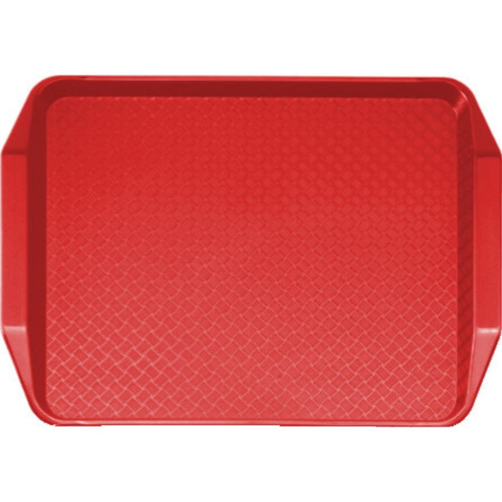 Podnos jídelní Fast Food 30x43 cm červený