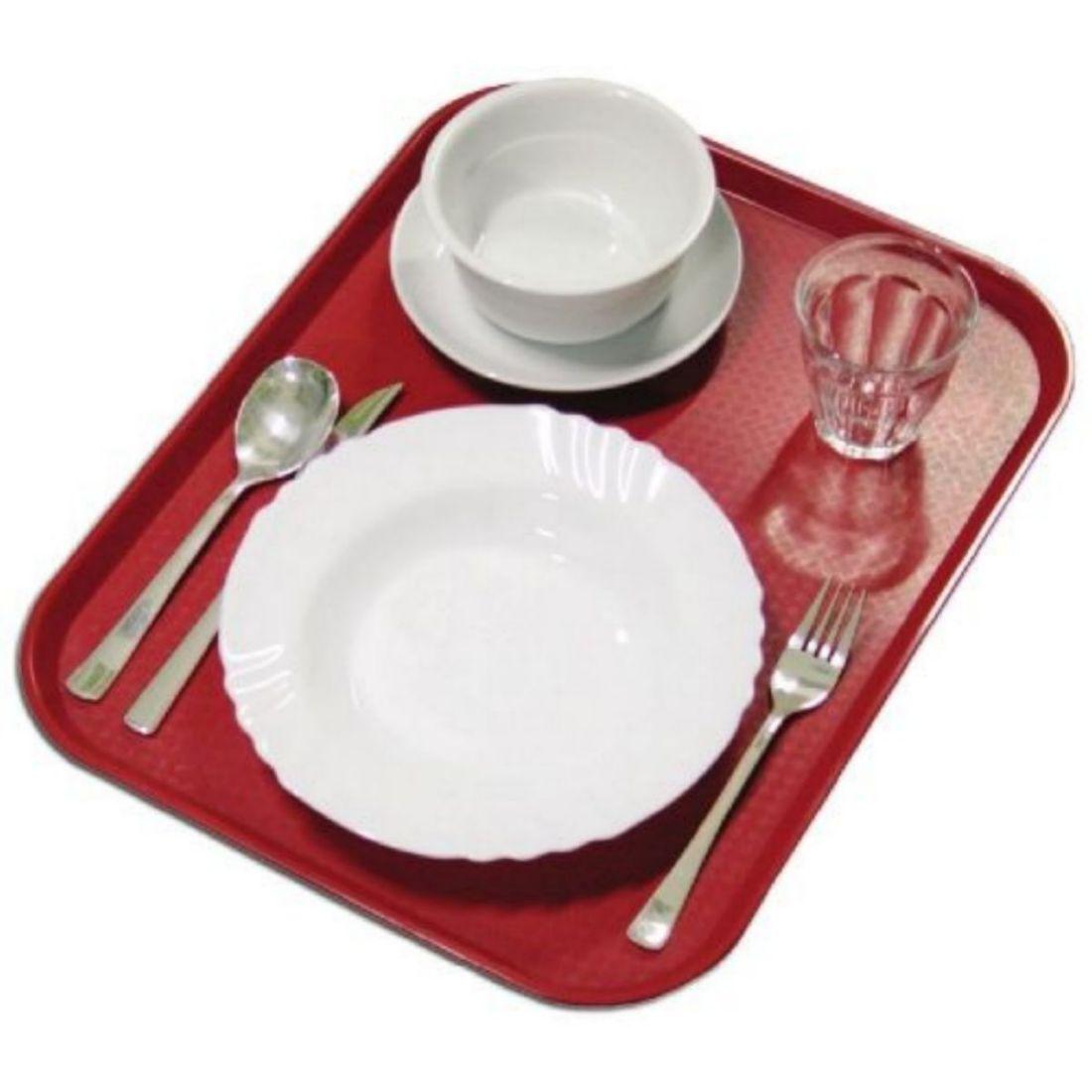 Podnos jídelní - červený 360 x 460 mm