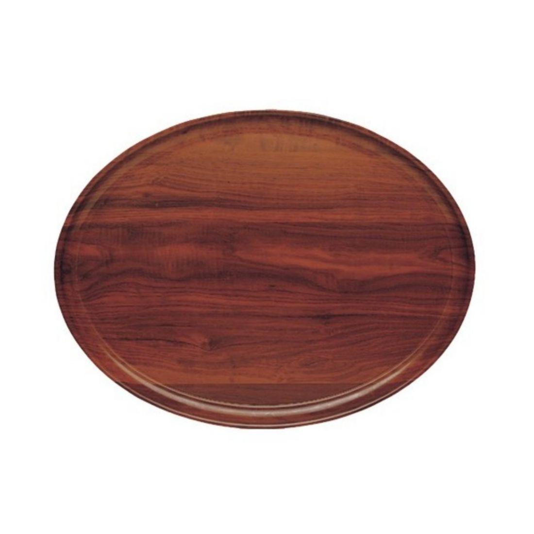 Podnos Capri oválný - ořech 21 x 29 cm