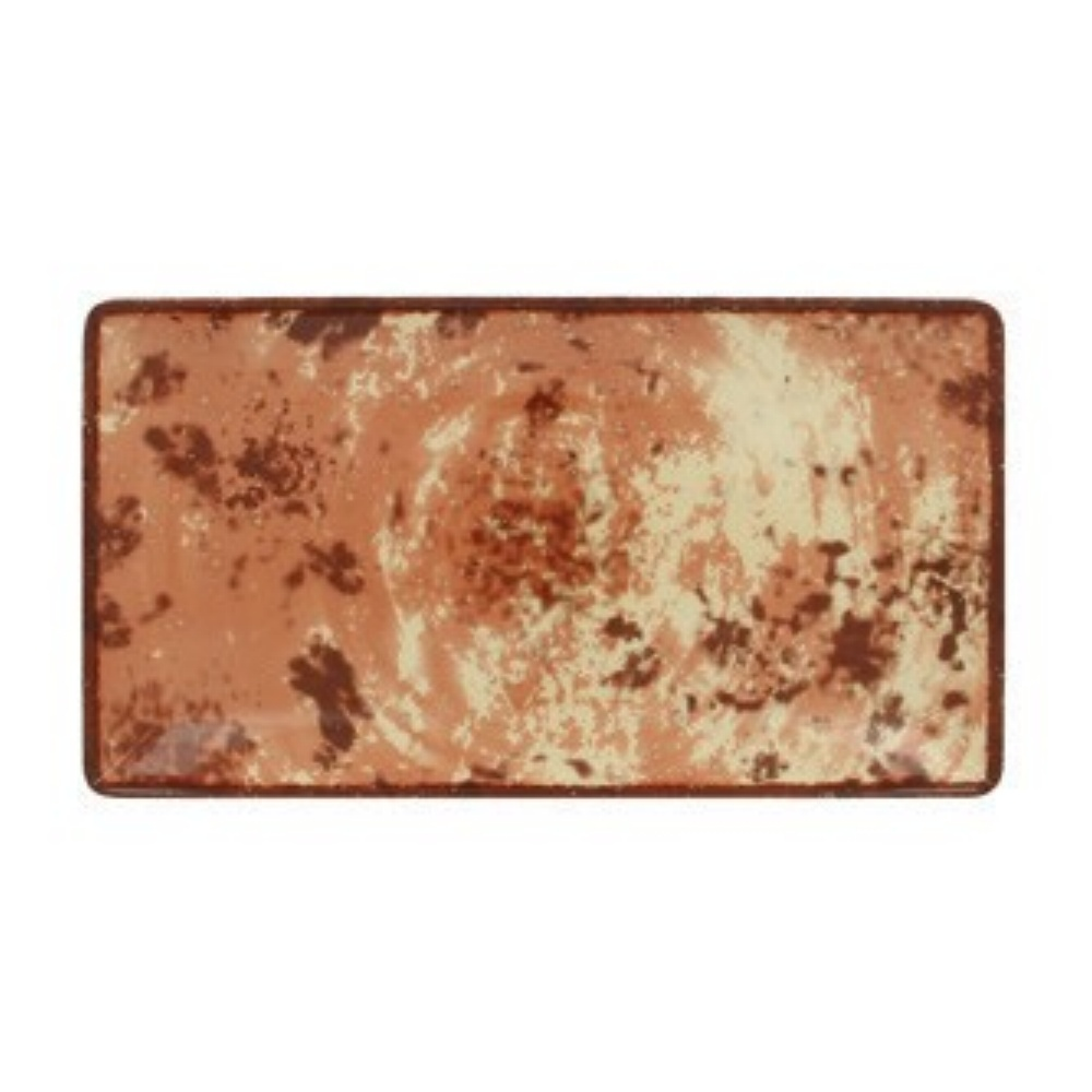 RAK Peppery talíř obdélný 33,5x18 cm, hnědý