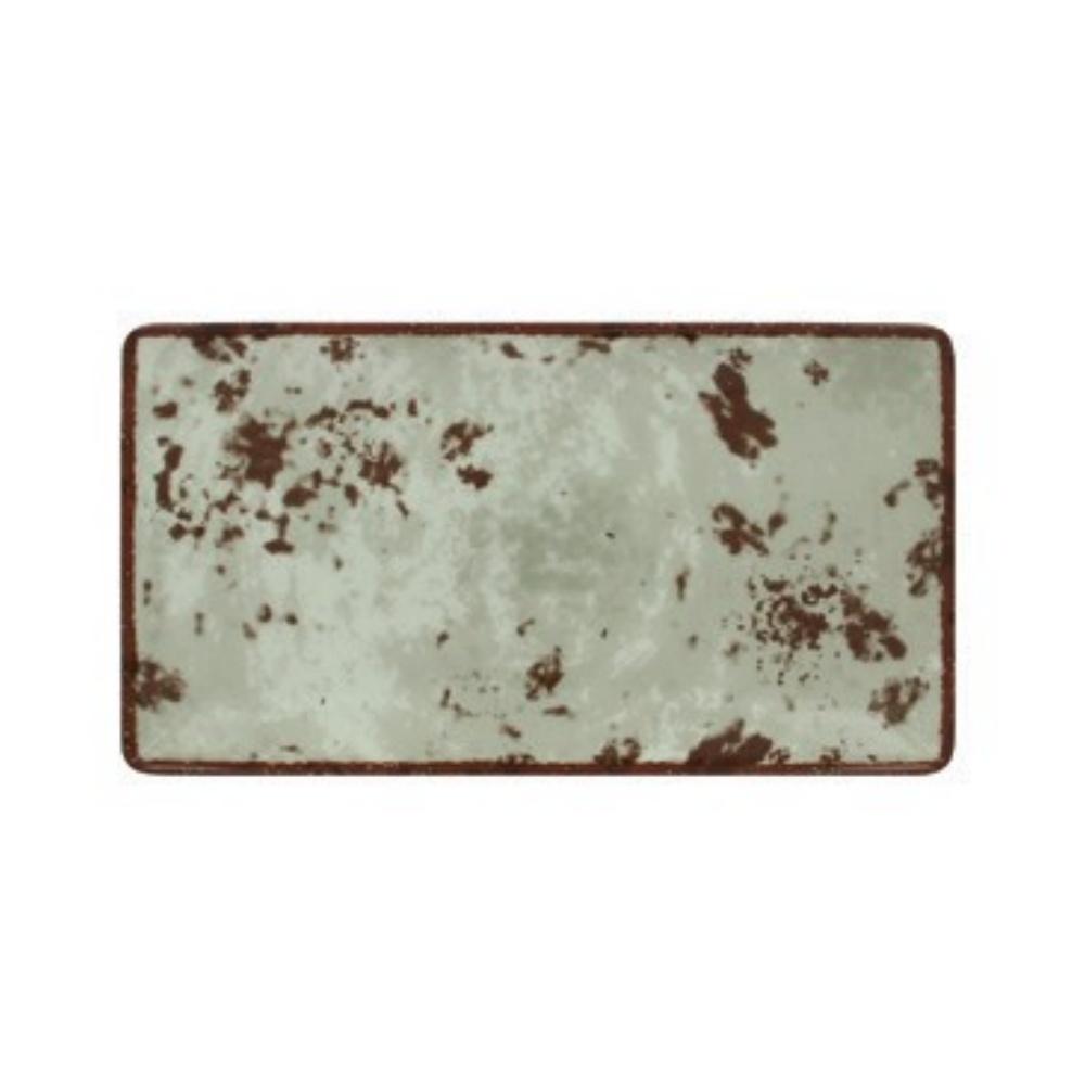 RAK Peppery talíř obdélný 33,5x18 cm, šedý